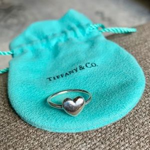 Tiffany Sterling Silver Heart Wire Ring